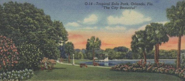 Lake Eola Navelgazing Writer