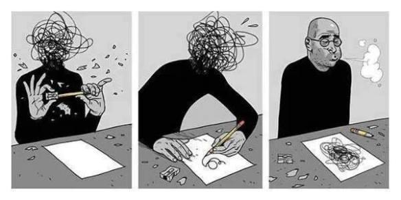Anxiety Navelgazing Writer